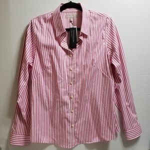 Banana Republic Fitted Striped Shirt NWT